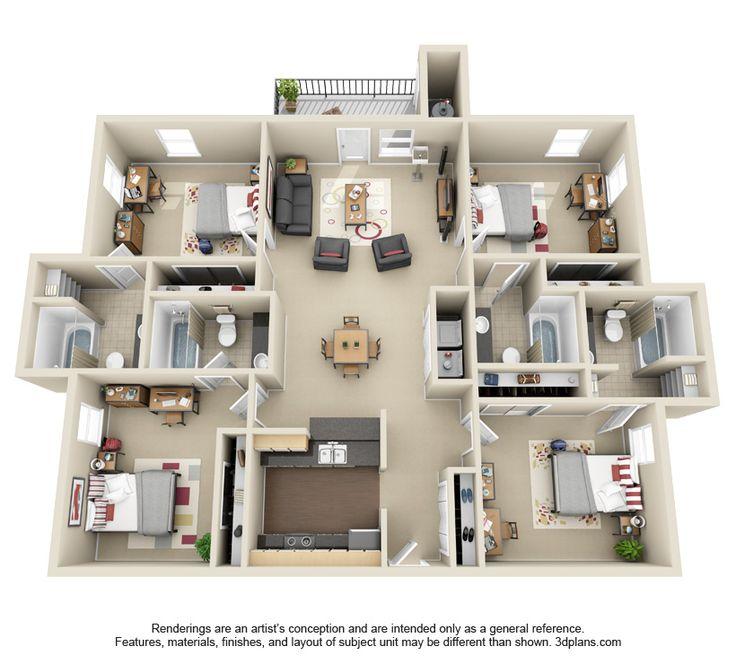 Home Design 3d 1 3 1 Mod: 812 Best Images About Plantas 3D, Arquitetura On Pinterest