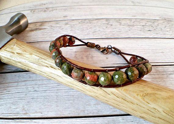 Unikite Mens Bracelet, Cool Mens Bracelet, Unique Bracelets for Men, Boyfriend Gift, Leather Bracelet, Cuff Bracelet, Mens Jewelry, Gift  #copper #rt #bracelets