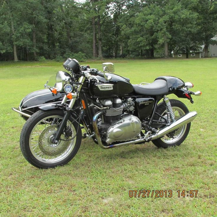 2009 Triumph Thruxton with cozy rocket sidecar, US $11,995.00, image 7