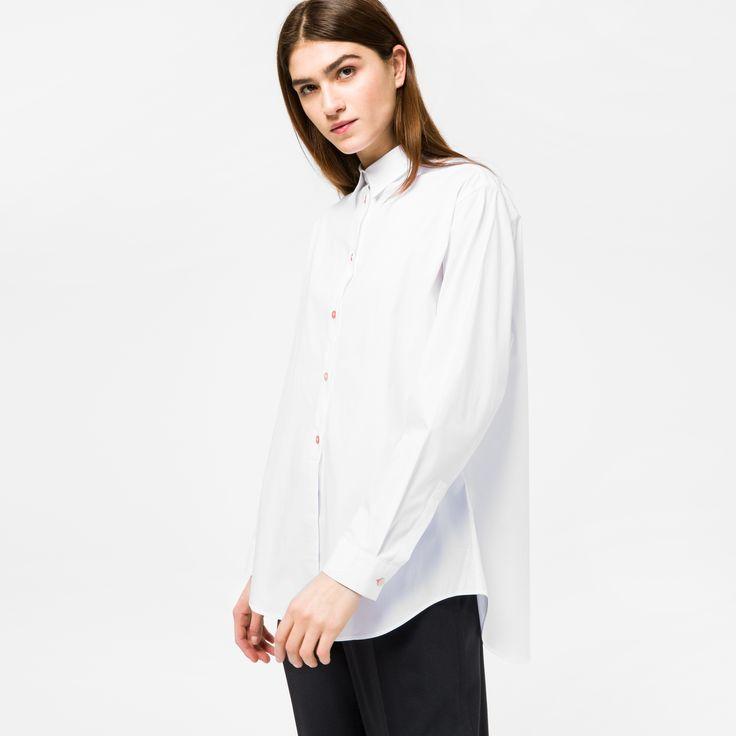 paul smith cheap designer jeans for, Paul Smith Womens White Stretch-Cotton Shirt Psxp-053B-421B-W, paul smith sale clothing uk Online Shop - $94.76
