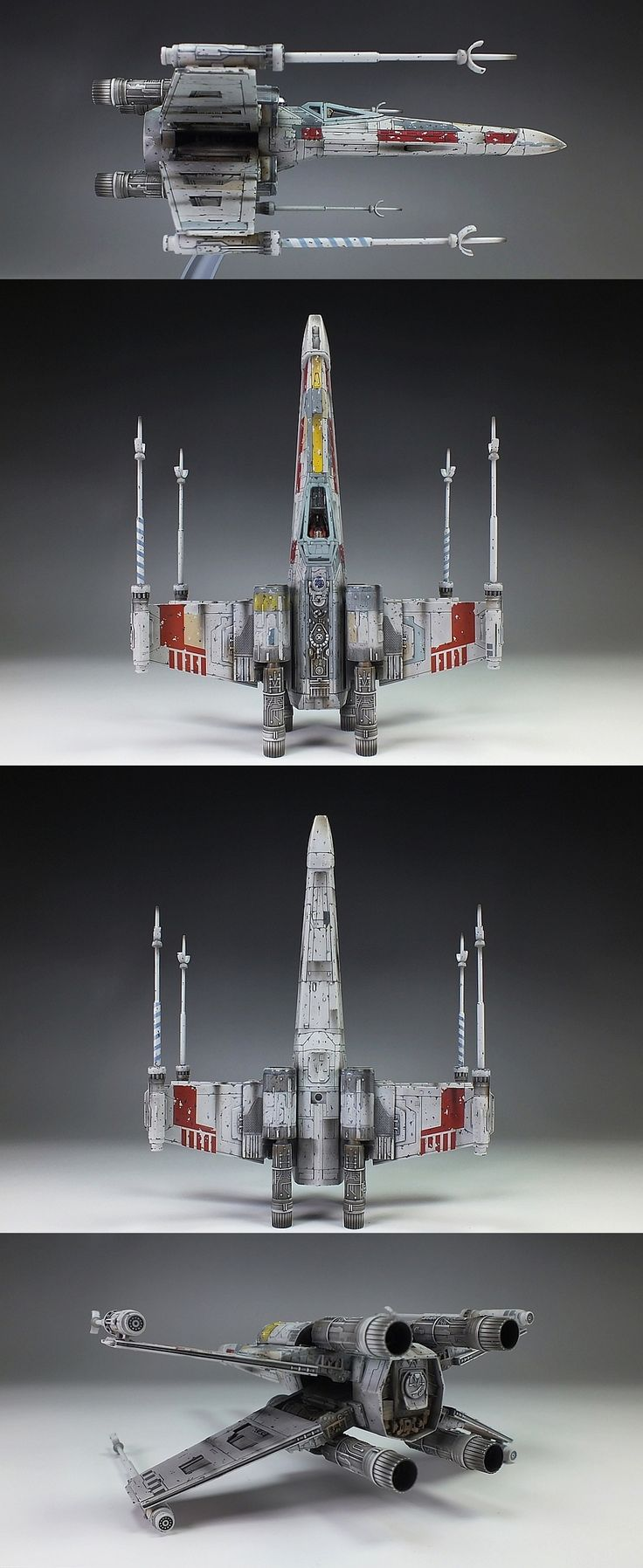 Bandai x Star Wars 1/72 X-Wing Starfighter: Amazing Work by oyoshicity. Full Photoreview Hi res Images http://www.gunjap.net/site/?p=224632