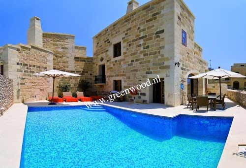 The Hamlet 1 Gozo in Gharb (Sleeps 6, Rooms 3) - Malta - RENT> 980.00 EUR    This property consists of a combined fully equipped kitchen/dining/sitting area combined, overlooking the deck area and pool with sweeping open country and sea views beyond.    For more visit: http://www.greenwood.nl/book/details/268169