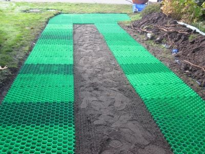 CORE grass grids to make a 'lawn' that is drivable!