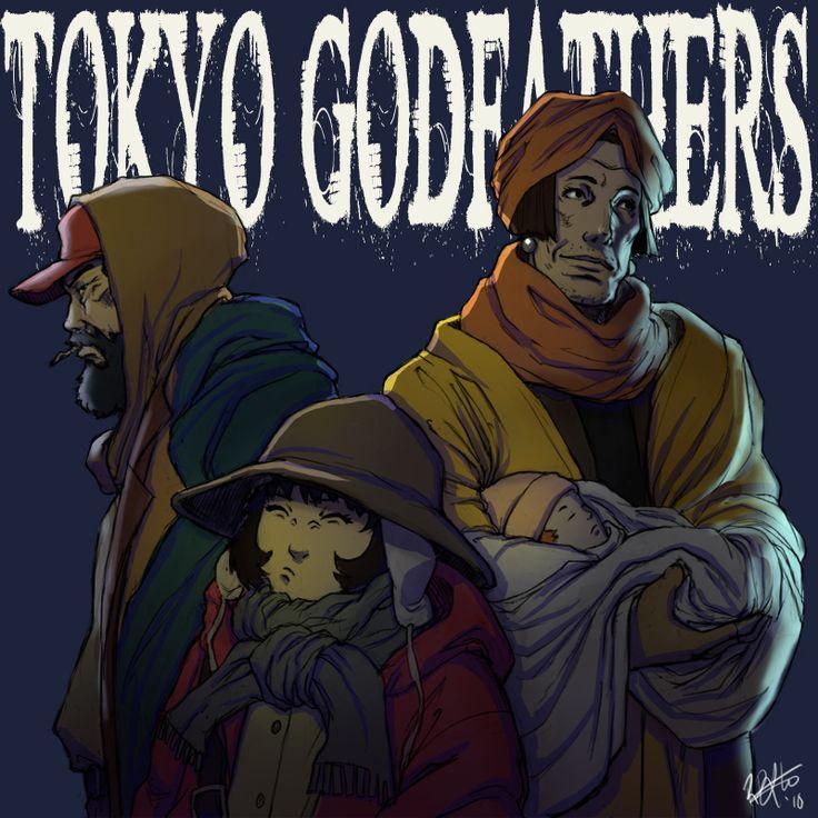 Tokyo Godfathers by kasai.deviantart.com