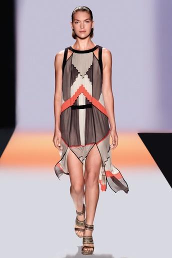 Runway melodie color-blocked dress
