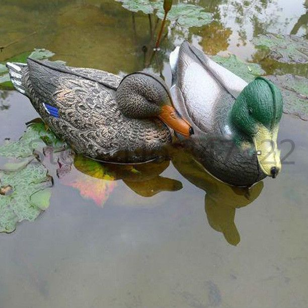 1Pair=2Pieces/Lot Mallard Duck Decoys Duck Hunting Lure Bait Anas platyrhynchos made by XPE Material Free Drop Shipping #Affiliate