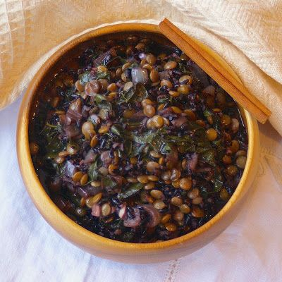 Margaret's Dish: Moroccan Spiced Lentils and Black Rice