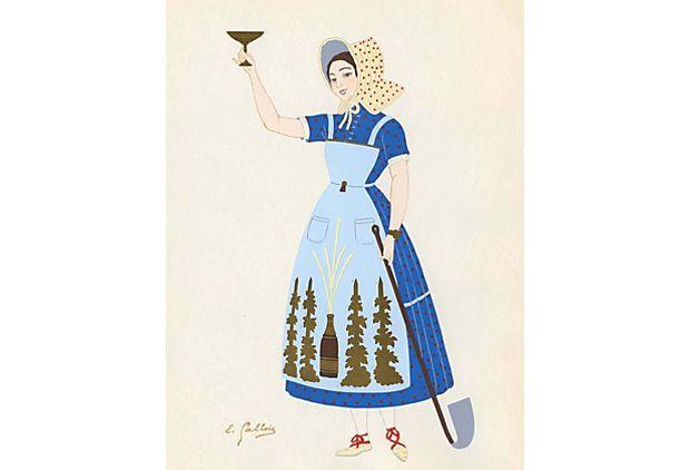 French Costume Print, Champagne on OneKingsLane.com