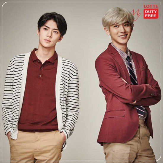 Check out the good-looking boys of EXO in 'Lotte Duty Free' advertisement photos! | allkpop.com