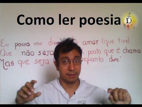 Como ler poesia - a partir de poema de Manuel Bandeira - O que é poesia - Canal Digitalismo - YouTube