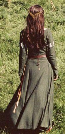 Susans archery dress in Lion, Witch & the Wardrobe