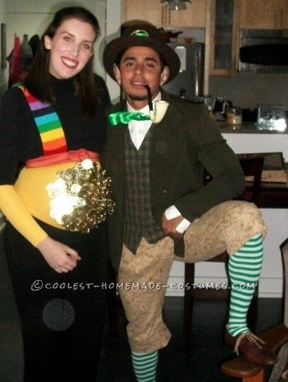 pot o gold pregnant halloween costume - Pregnant Halloween Couples Costumes