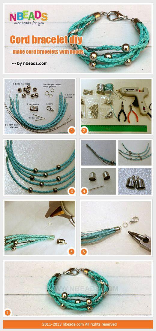 cord bracelet diy - make cord bracelets with beads
