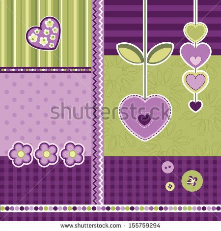 Set Of Scrapbook Elements, Vector - 155759294 : Shutterstock