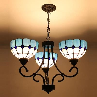 A Beautiful 3 Lamps Tiffany Chandelier Add Bright Color And Elegance To Your Room