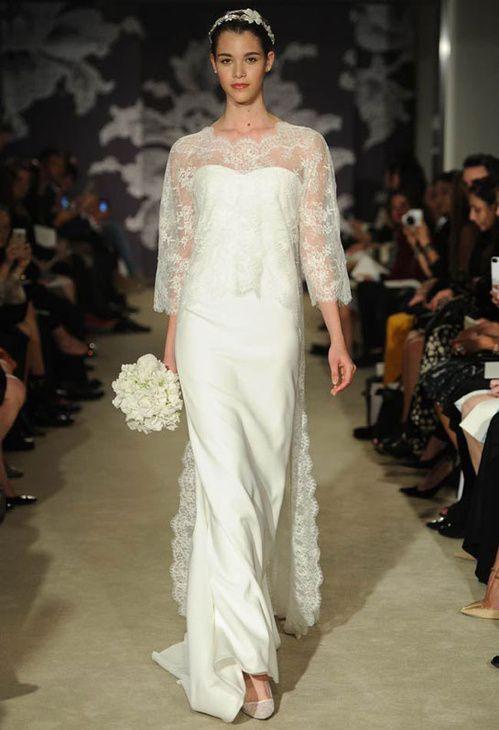 Robe de mariée Le défilé Bridal Carolina Herrera de la collection printemps-été 2015
