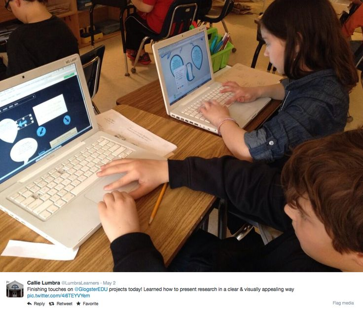 Kids learning how to present research in a clear & visually appealing by making projects on #GlogsterEDU. #education #classroom