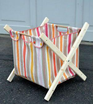 Veja aqui passo a passo como fazer um cesto de roupa suja dobrável