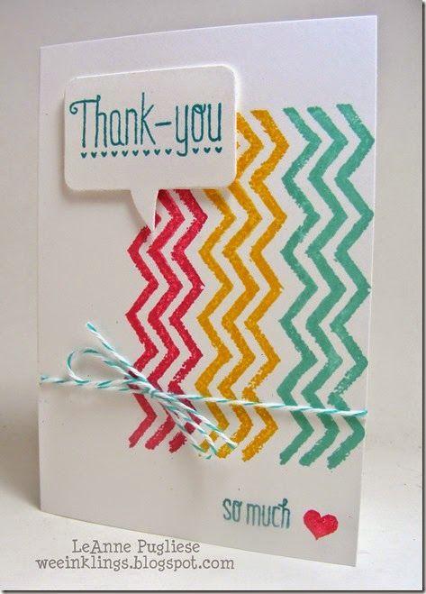 Simple chevron thank you card