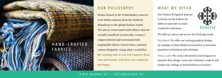 Long A5 Flyer for Pashm (Front)