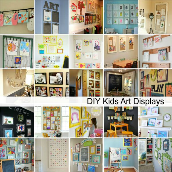 DIY Kids Art Displays
