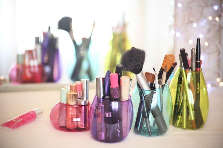 Faça você mesmo: organizadores para banheiro e penteadeira - Casa