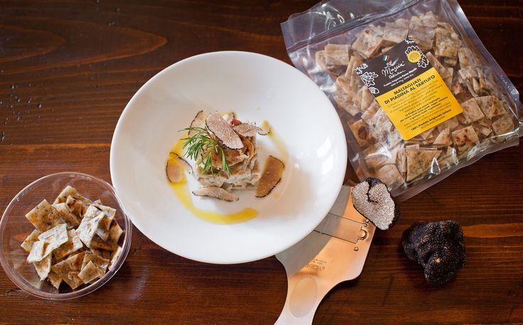 main course of #Maltagliati of #Piadina #masciadelicatezze with #TRUFFLE - NEW PRODUCT