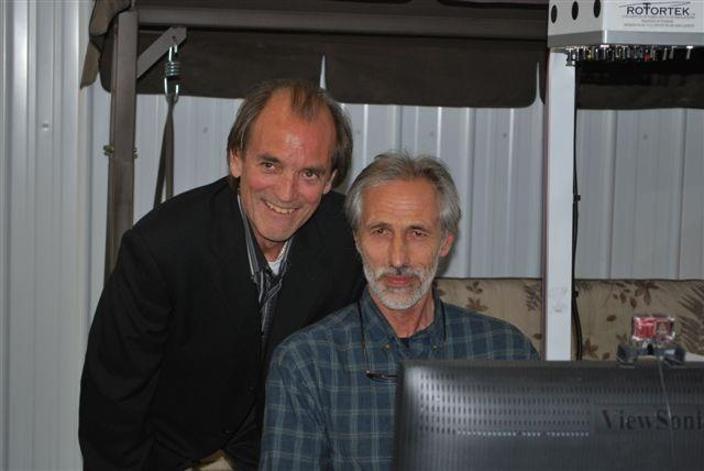 Jean Sylvestre et Robert Piché au Salon de l'aviation virtuelle du Québec 2009.