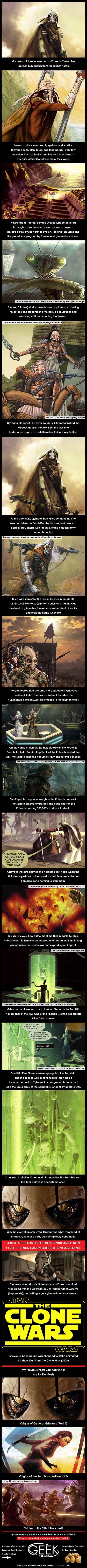 Origins of General Grievous (Part I) Star Wars History. - 9GAG