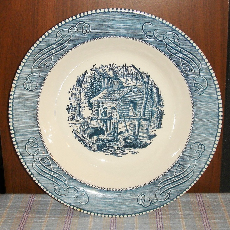 Vintage Royal China Currier and Ives Vegetable Serving Bowl Maple Sugaring & 89 best Currier u0026 Ives Dinnerware images on Pinterest | Currier and ...