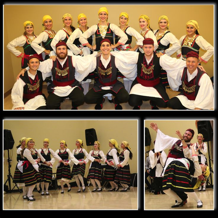 The Hellenic Dancers of New Jersey in the traditional folk attire of Embonas, Rhodes and Vovousa, Epirus.