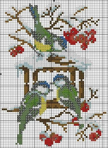 Etamin Şablonları Kuş Desenleri 13