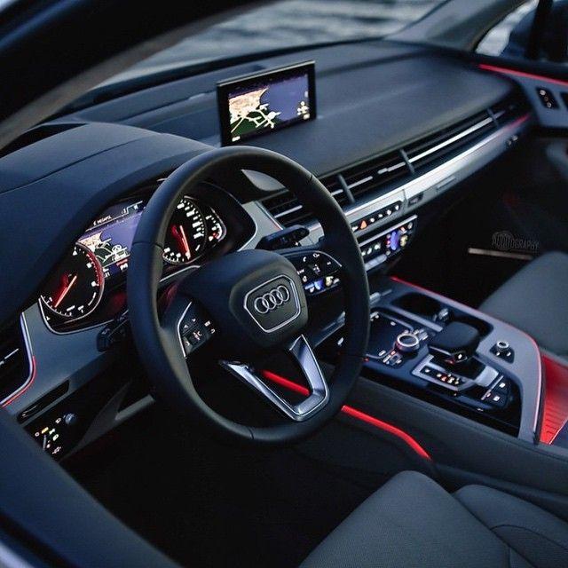 Amazing Audi Q7 Interior ♠️ Go and follow  @FutureGentleman  Photo by @auditography #ThePrestigeLifestyle