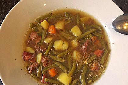 Grüne Bohnen - Suppe, ein raffiniertes Rezept aus der Kategorie Eintopf. Bewertungen: 14. Durchschnitt: Ø 4,1.
