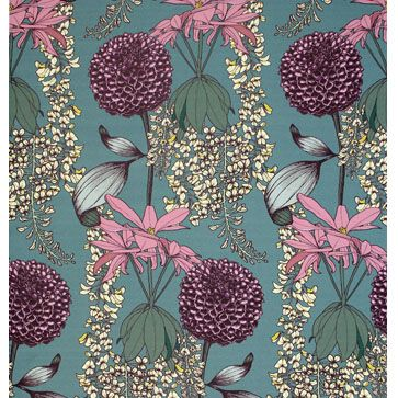 ABIGAIL BORG   Laburnum (Teal) Wallpaper   Abigail Borg   Surface Pattern Designer & Floral Illustrator