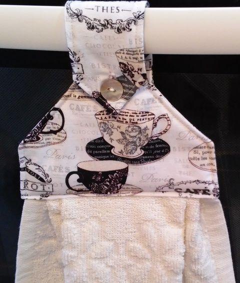 Cafe és Paris, vintage konyhati törlő, Konyhafelszerelés, Dekoráció, Mindenmás, Otthon, lakberendezés, Meska