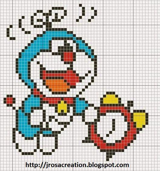 Doaremon -  free cross stitch pattern