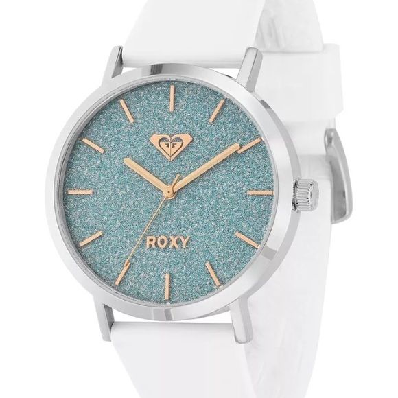 Brand new Roxy Waterproof watch Stainless steel case, smooth silicone wrap, 165ft water resistant Roxy Accessories Watches