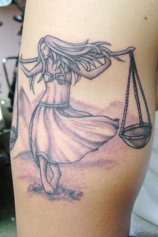 Libra Tattoo, Design, Concept and Inked by Sunny at B-Tattoo Shop, Mumbai