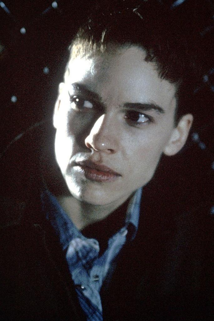 Hilary Swank as transgender Brandon Teena in Boys Don't Cry (1999)