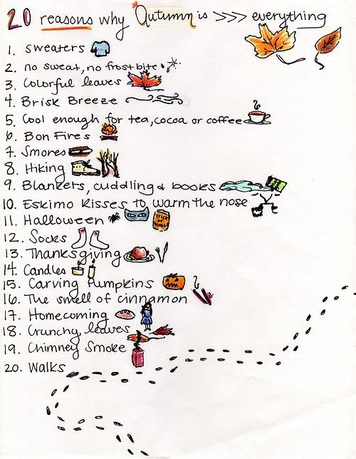 20 reasons why Autumn is (greater than) everything...I'd like to do ALL of these things this fall!