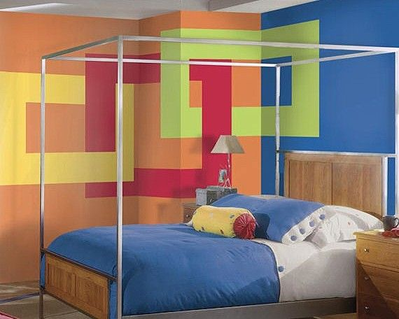 Temporary wallpaper wall decals pre pasted super stripe for Temporary wallpaper border