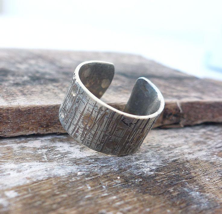 Σφυρήλατο δαχτυλίδι από αλπακά