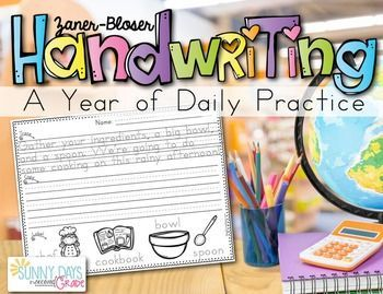 Handwriting is one of those areas that is hard to fit in, although it seems to be needed more now than ever. With this pack, you can easily provide meaningful manuscript practice each day of the school year in just a few minutes a day. Each page follows t