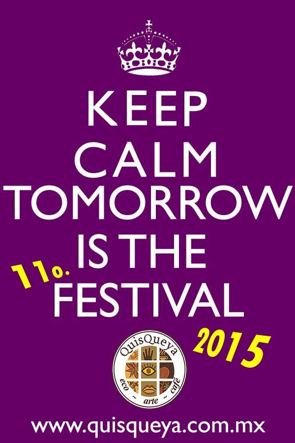 Mantengan la calma... Mañana desde las 9pm es el 11o. festival ecológico y cultural QuisQueya. ¡Están todos nutritivamente convidados!