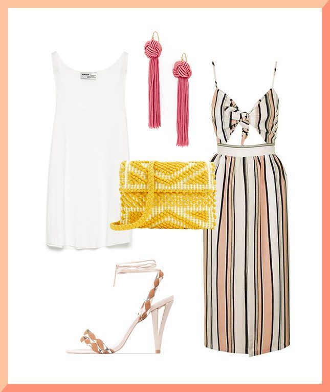 Hack your office-to-evening outfit using a white tank + these other style pieces.