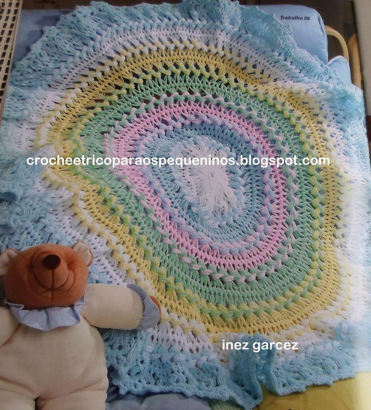 Croche e trico para os pequeninos receita manta de croch - Manta de crochet facil ...