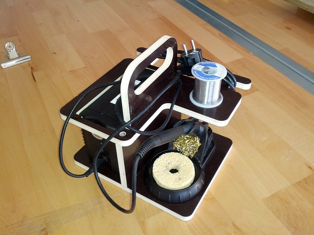 Soldering station organizer by geekphysical, via Flickr