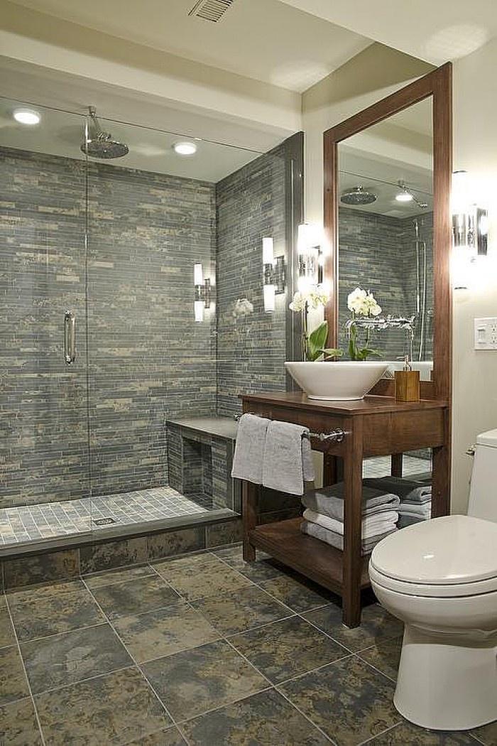 Barrier Free Shower; Like The Tile Floor