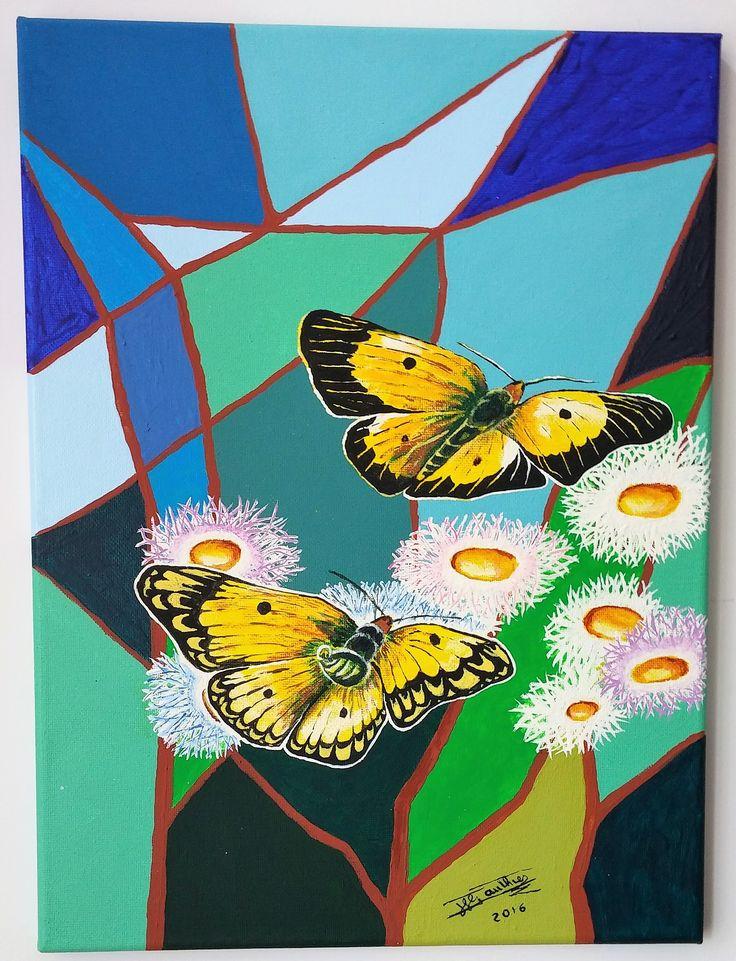 papillons mosaiques 16x12